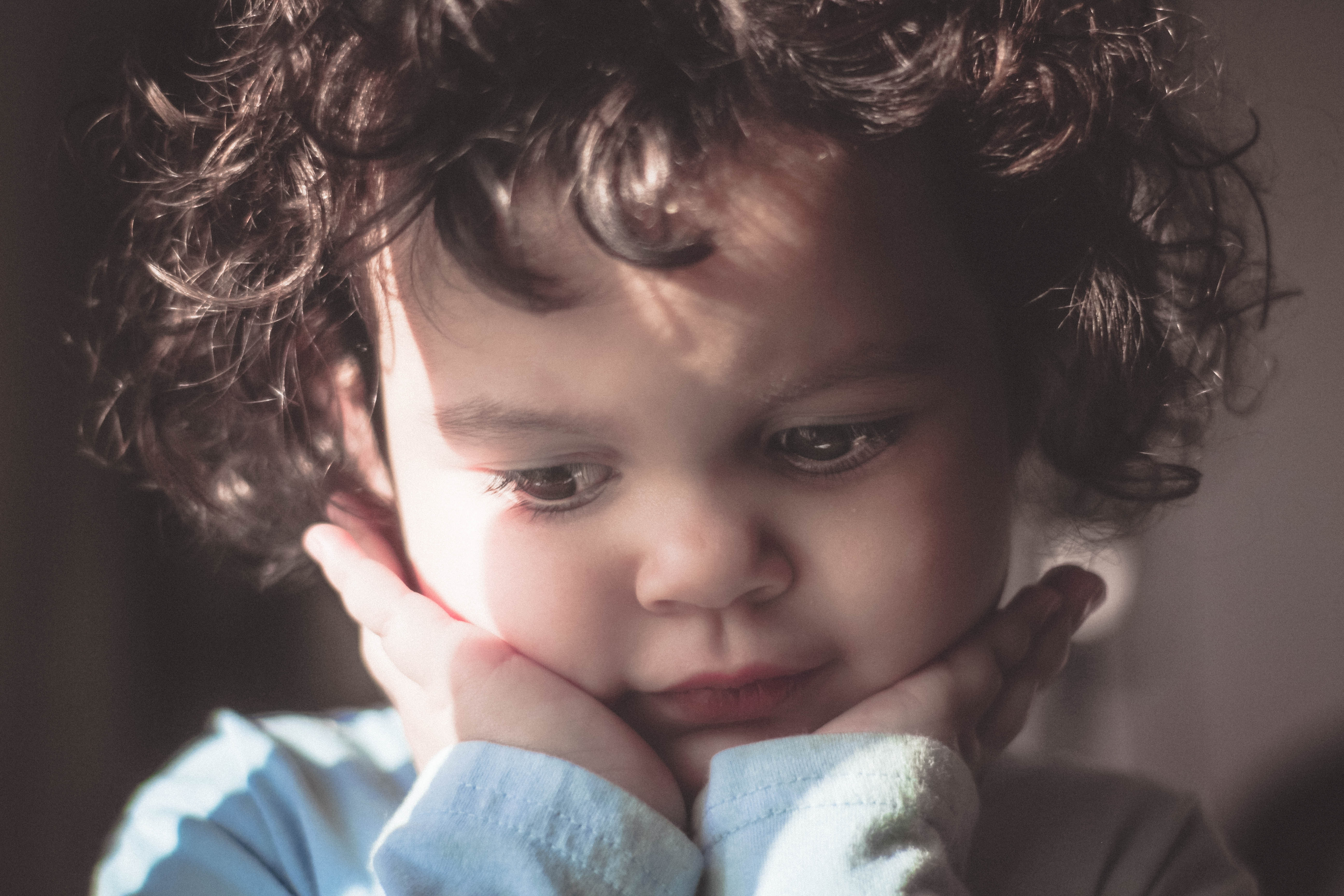 face of child